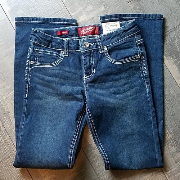 96d6dcec56839 NWT Girls Arizona Bling Bootcut Jeans Sz. 10 Reg